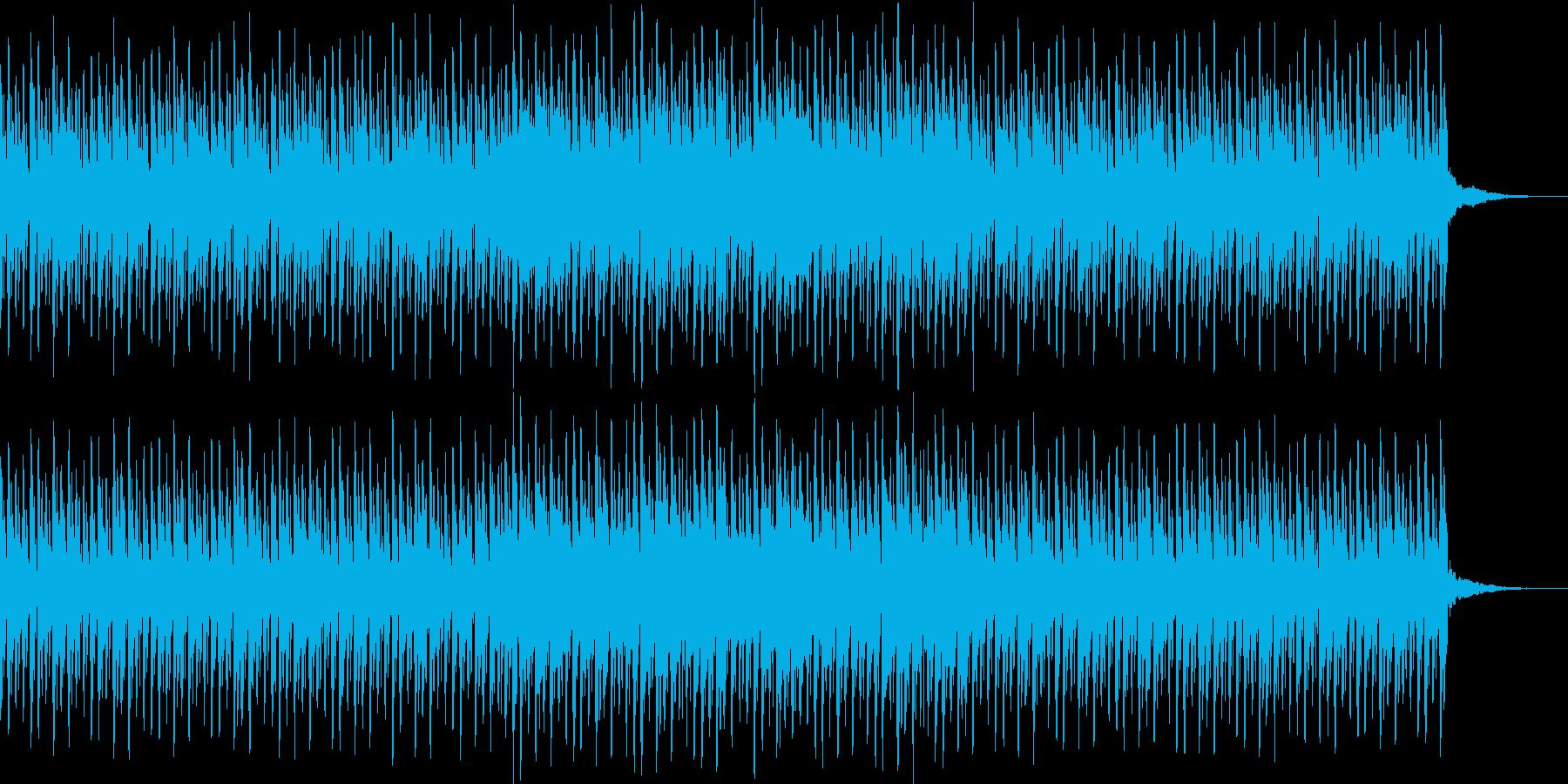 明るくパレードのようなシンセサウンドの再生済みの波形
