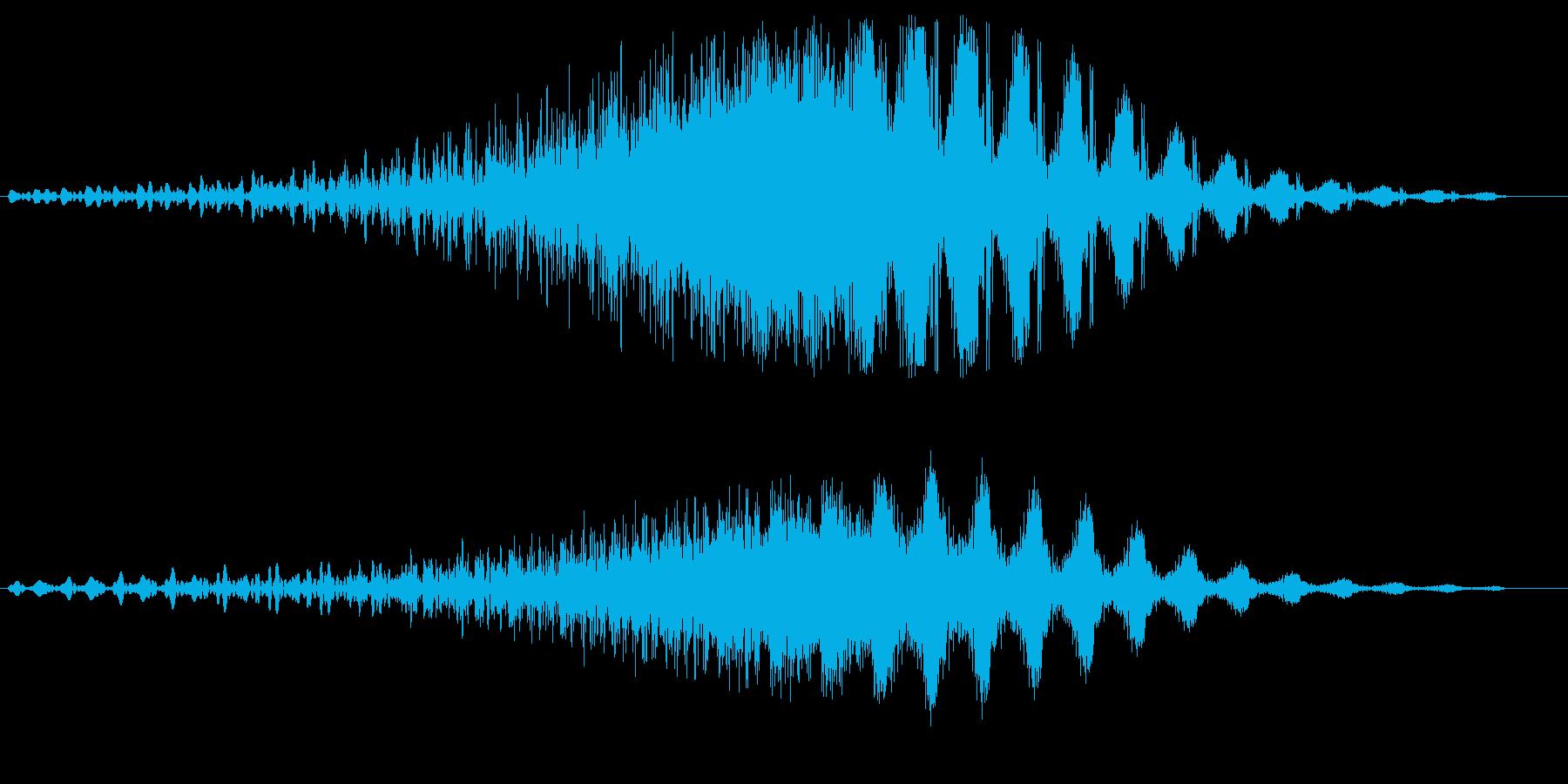 スピード感のあるスライド音の再生済みの波形