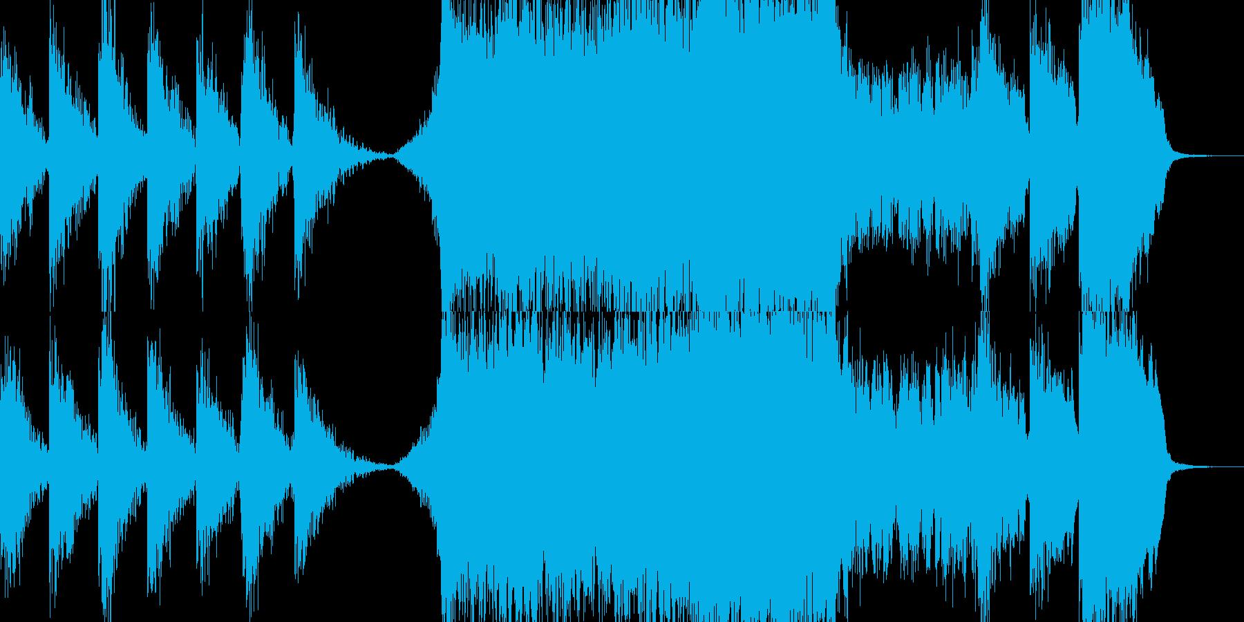 勢いがあってパワフルで迫力満点なBGMの再生済みの波形