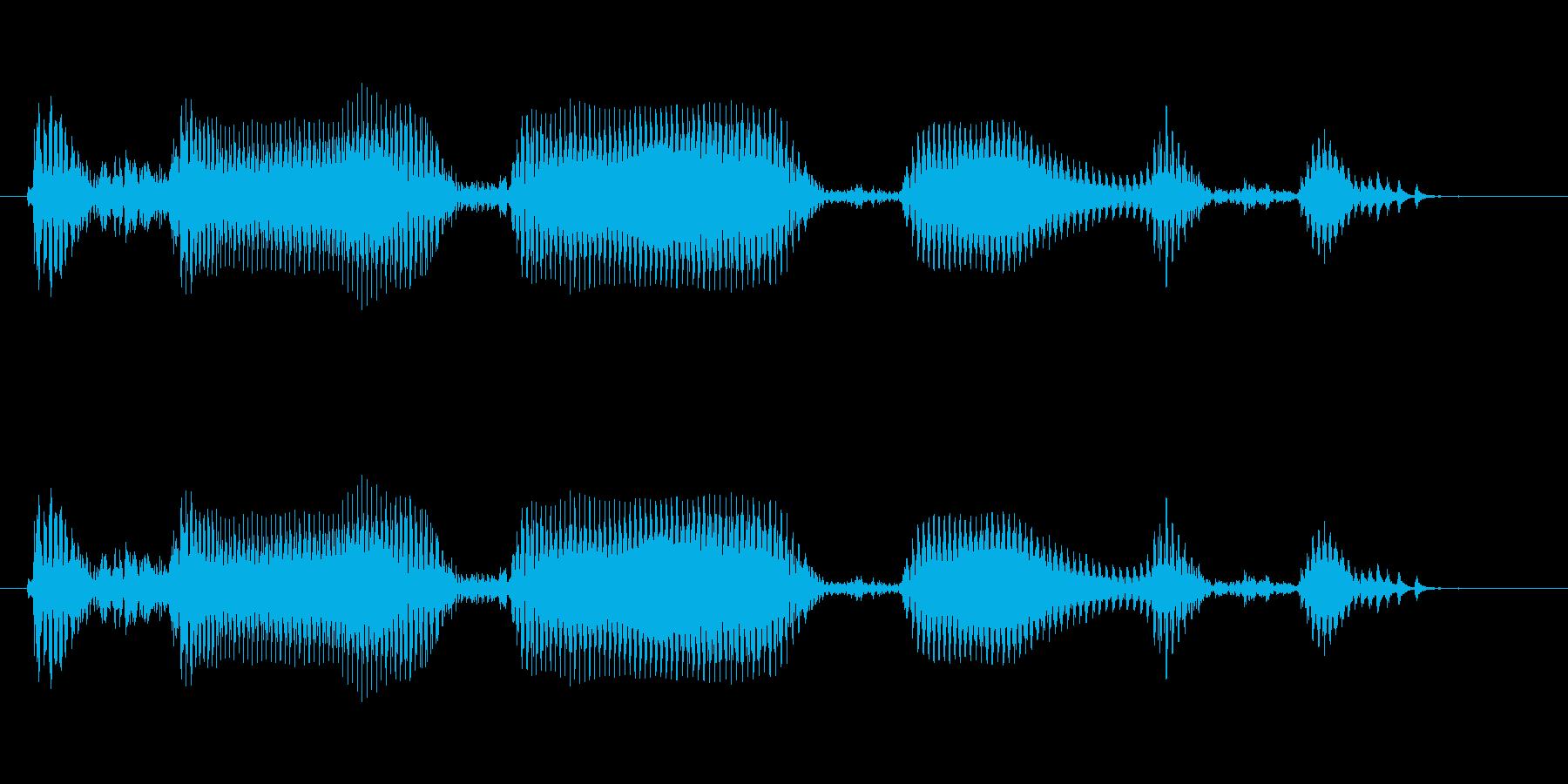 えへへへ 幼児(1~2歳)笑い声 の再生済みの波形