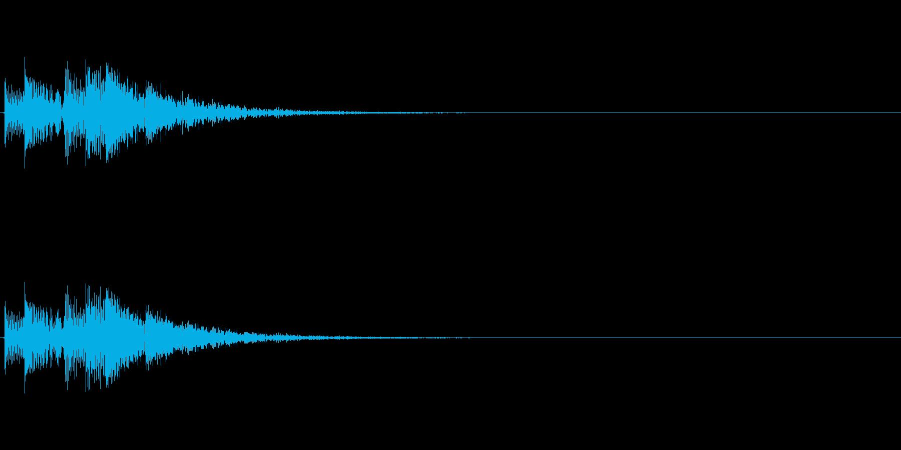 ゼリーのようなぷるるんとした音の再生済みの波形