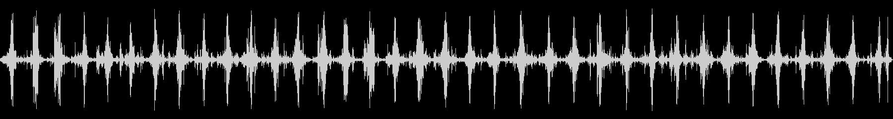 ダートロードで行進する中世の兵士の...の未再生の波形
