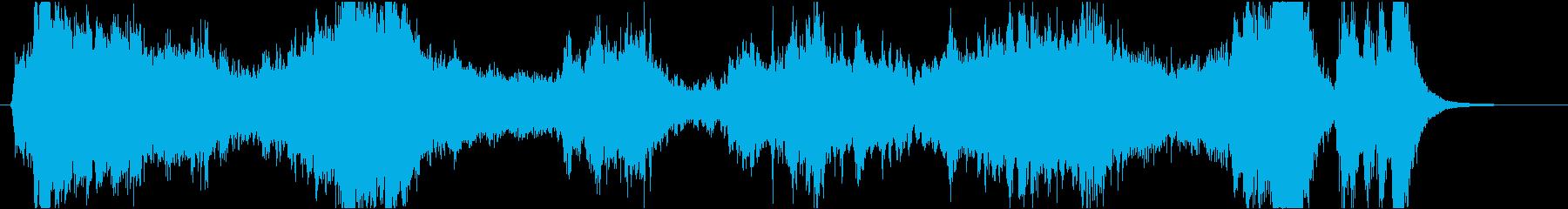 映画風わくわくするオーケストラCM曲の再生済みの波形