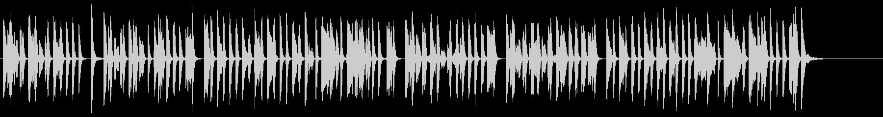 明るくコミカルなラグタイム調ピアノソロの未再生の波形
