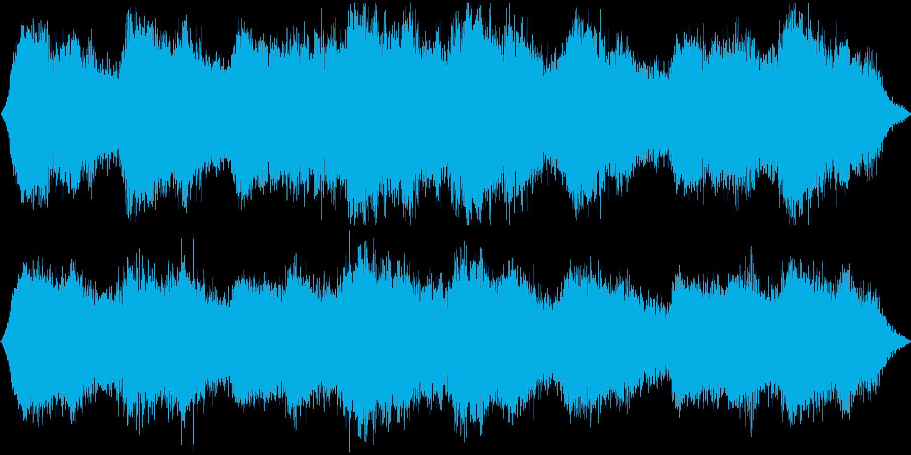 宇宙をイメージしたアンビエントですの再生済みの波形