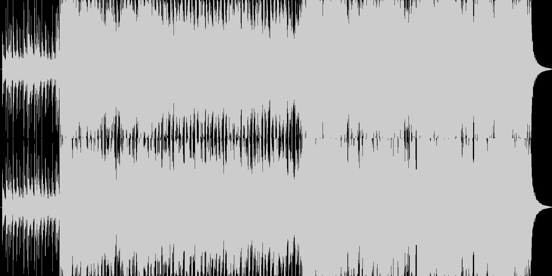 桃太郎の鬼ヶ島の戦闘シーン ハイテンポの未再生の波形