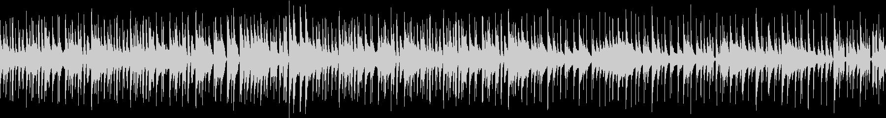 のんびりした印象のジャズトリオ ループ版の未再生の波形