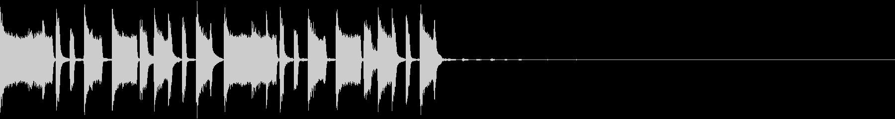 コミカルなトラップジングルの未再生の波形