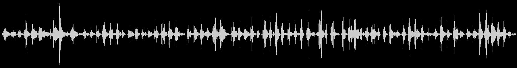 大きくて重いスリーベル:長いスロー...の未再生の波形