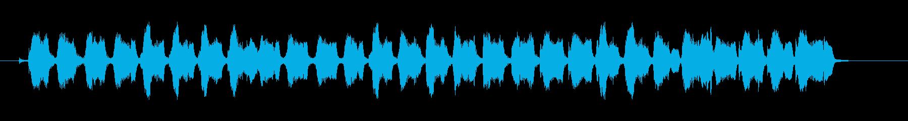おまぬけで、追いかけっこっぽいBGMの再生済みの波形