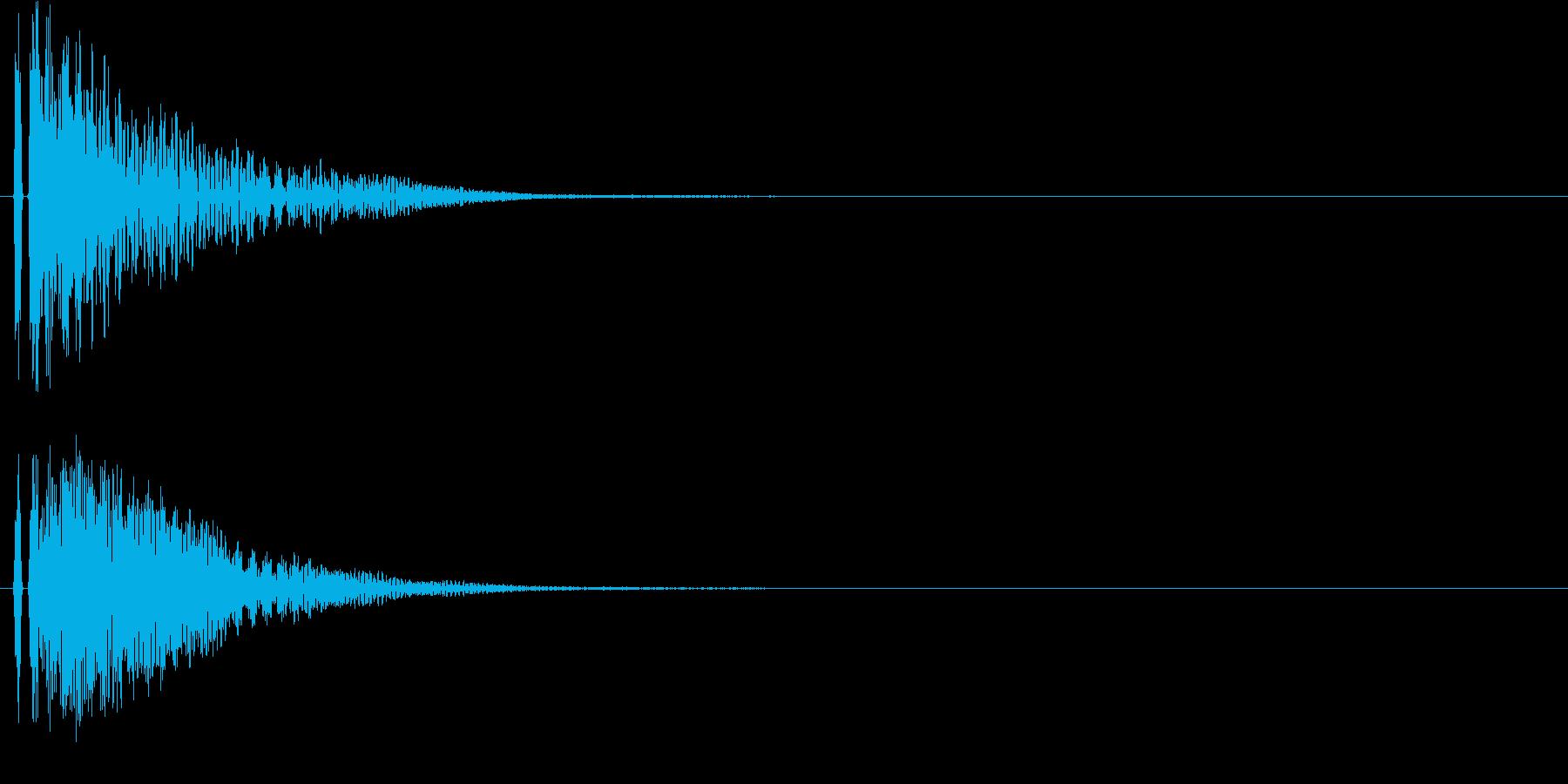 【ドン!】とてもリアルな和太鼓の効果音!の再生済みの波形
