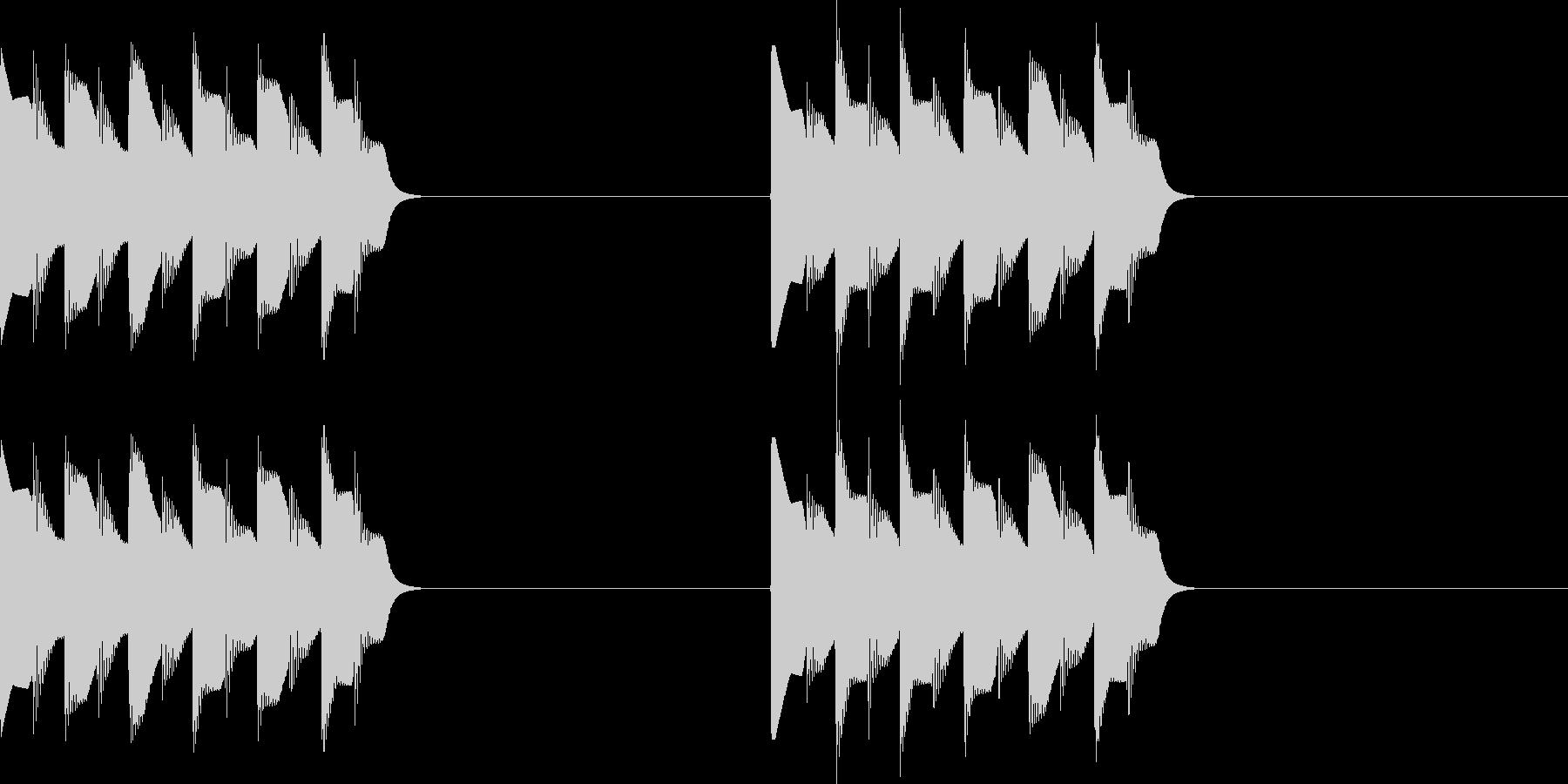 ピロピロ..。電話の着信音A(短)の未再生の波形