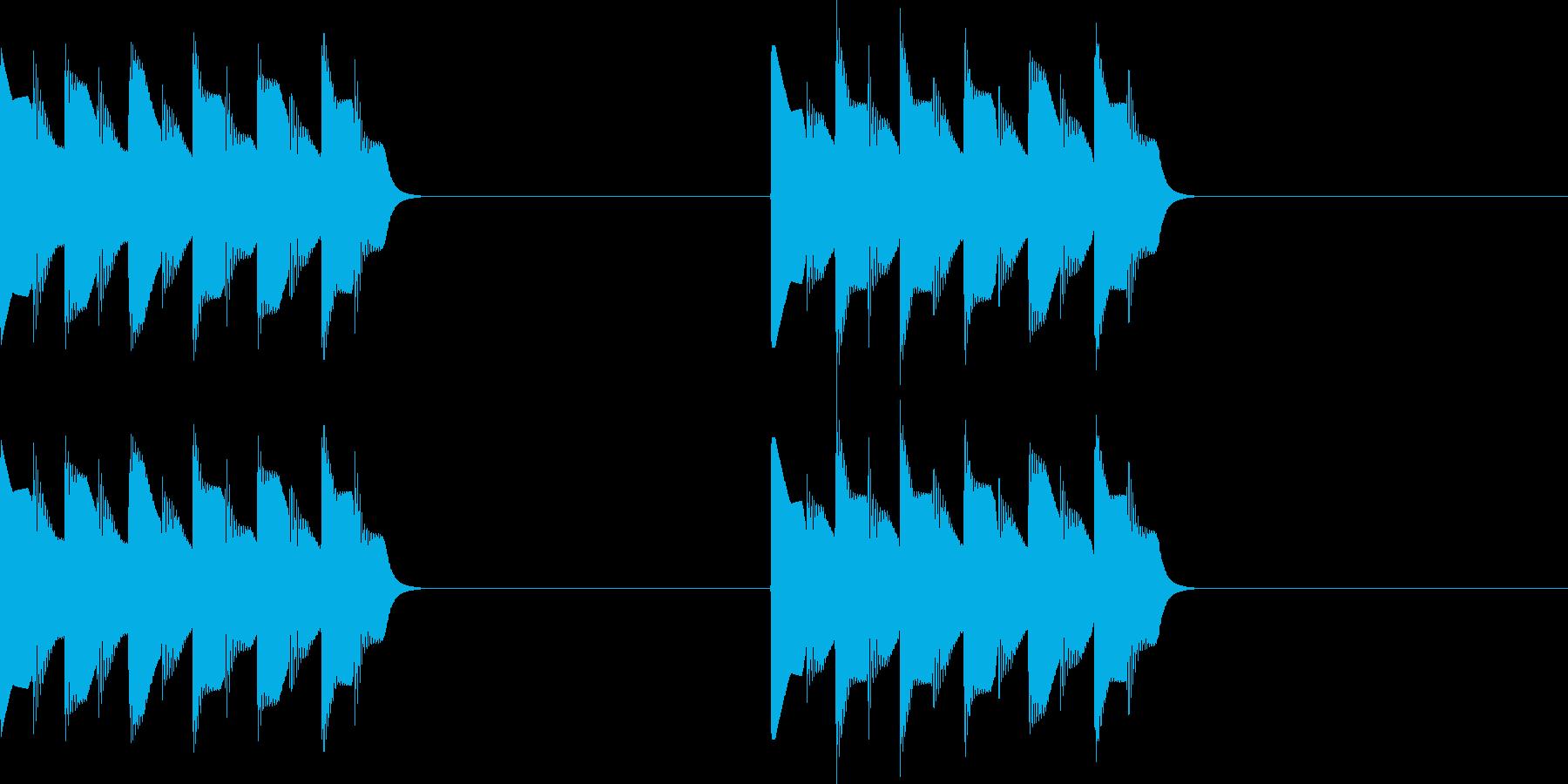 ピロピロ..。電話の着信音A(短)の再生済みの波形