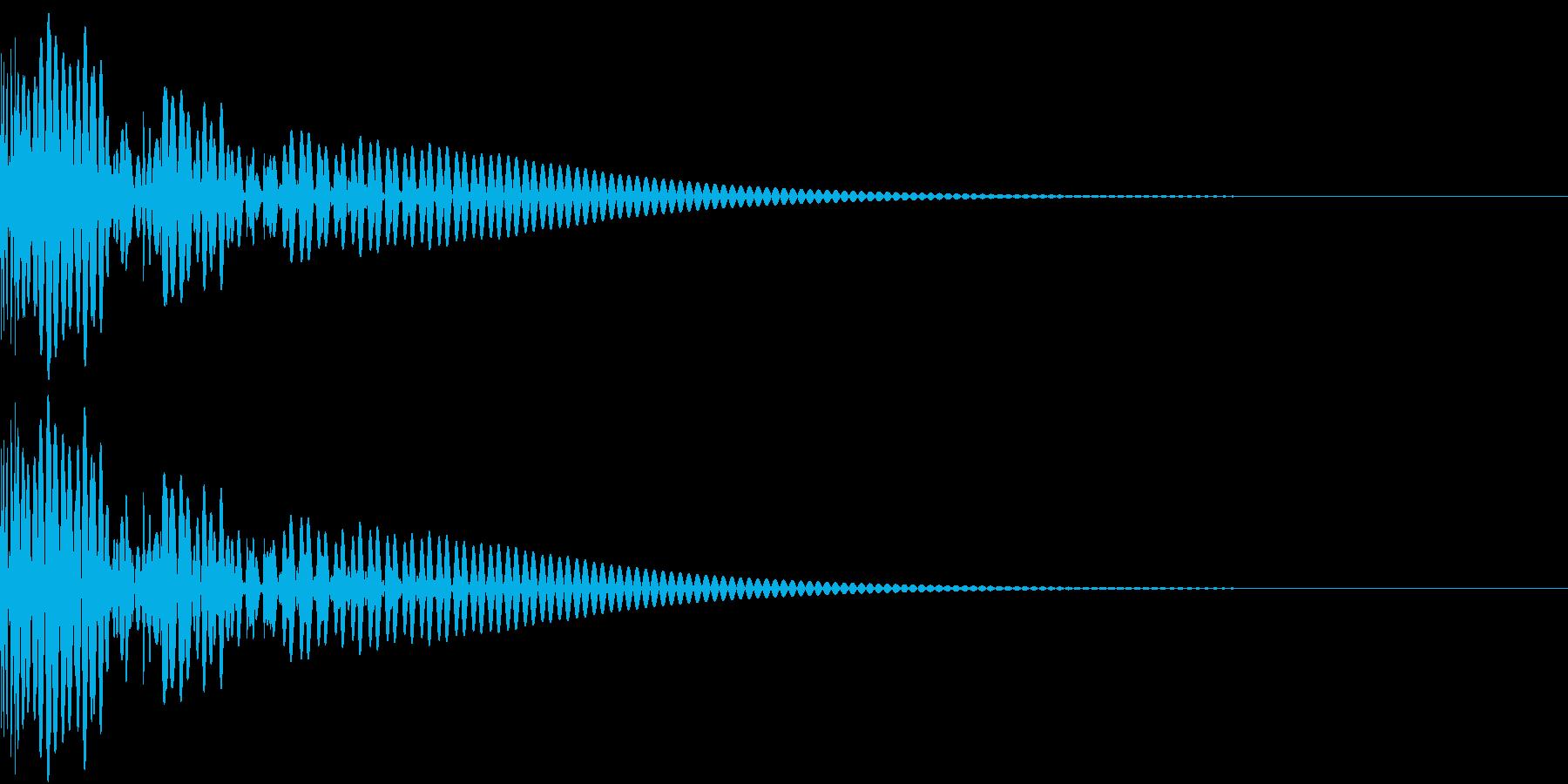 DTM Kick 101 オリジナル音源の再生済みの波形