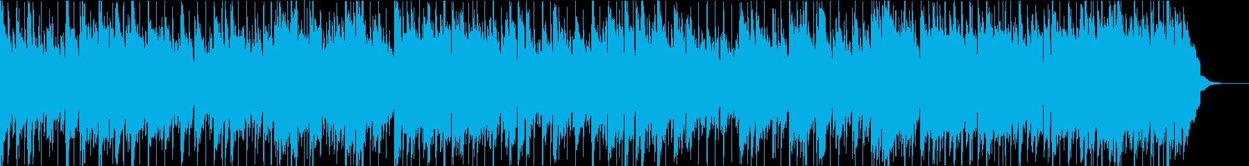 緊張感のあるBGM(メロディ入り)の再生済みの波形