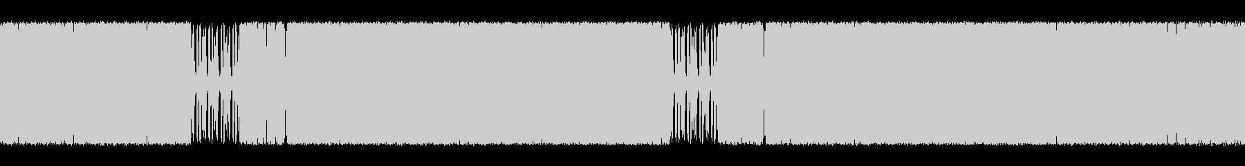 シンセが特徴的なハウスの未再生の波形