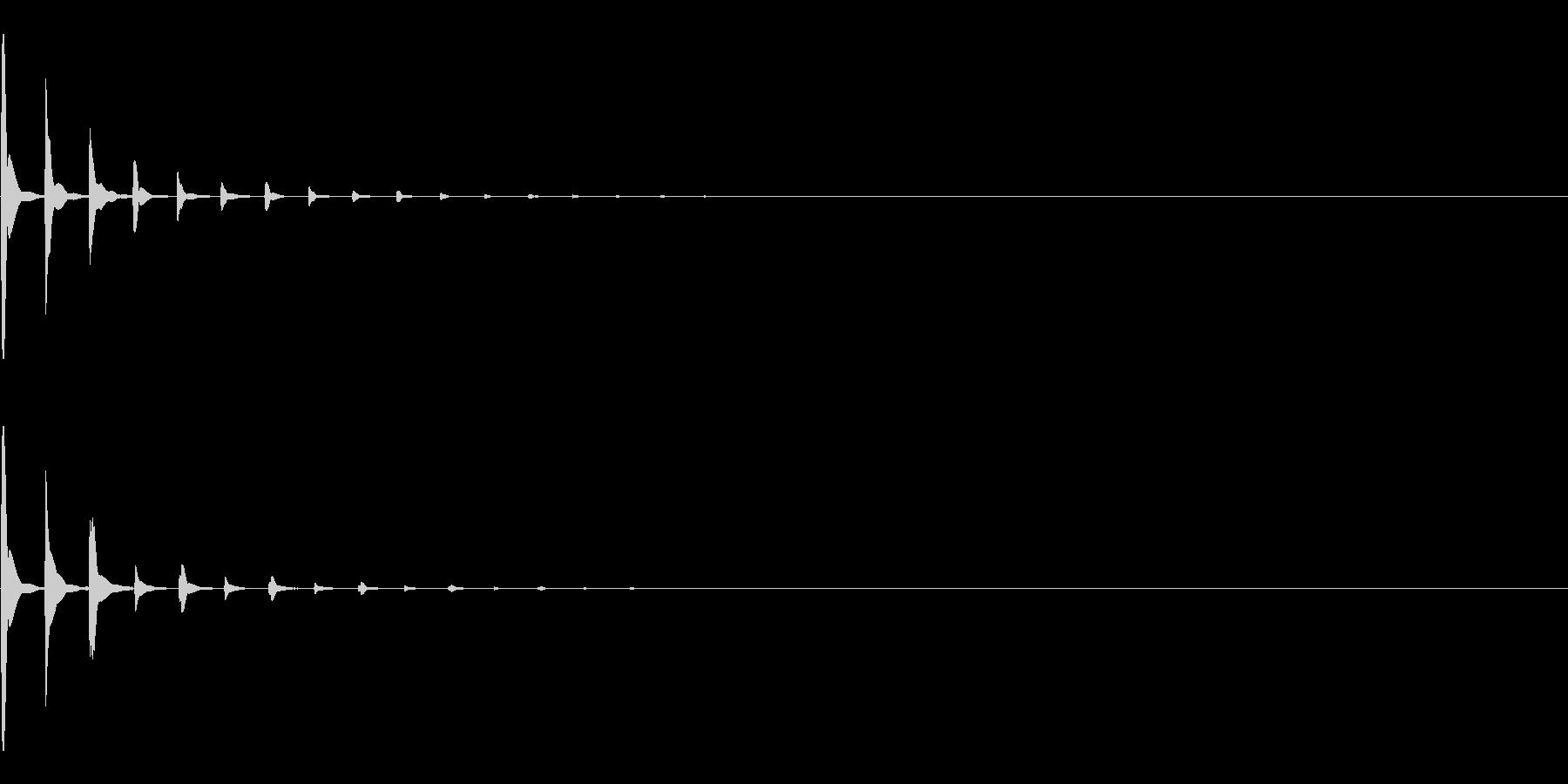 めくる 次へ 注釈 決定 ピコン の未再生の波形