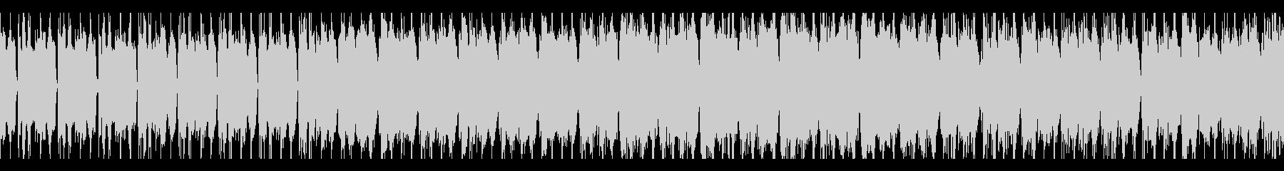 EDM風シューティングBGM ループの未再生の波形