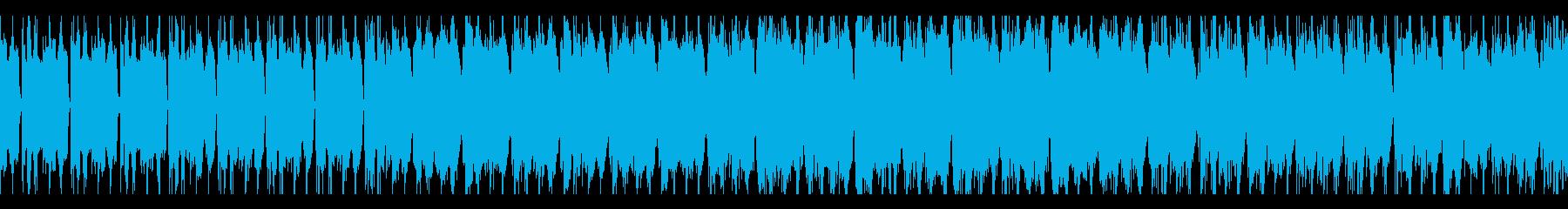EDM風シューティングBGM ループの再生済みの波形