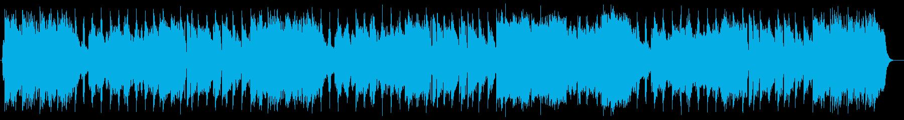 壮大で可愛らしいミュージックの再生済みの波形