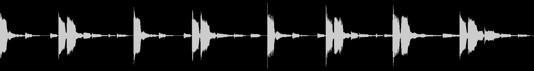 静かなエコーがエモい_ミニマルなループの未再生の波形