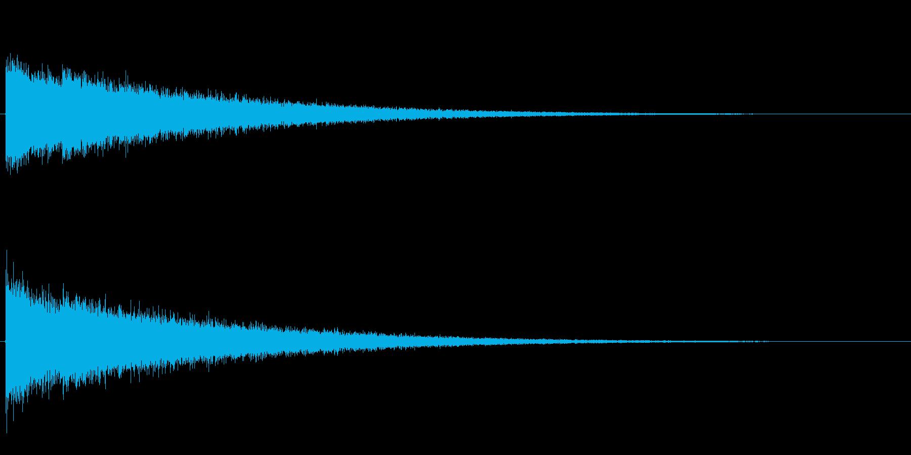 シャン、シャン、シャン・・・と高音がエ…の再生済みの波形