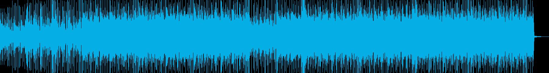 明るく弾ける感じのBGMの再生済みの波形