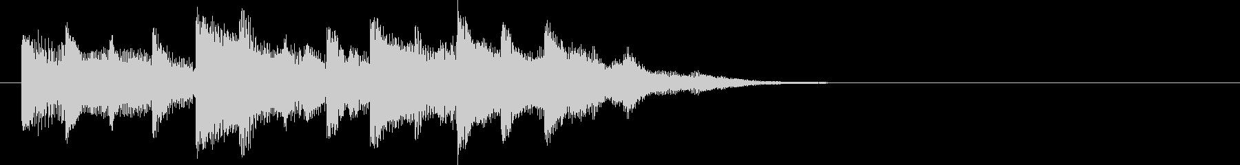 木琴と電子音を融合したジングルの未再生の波形