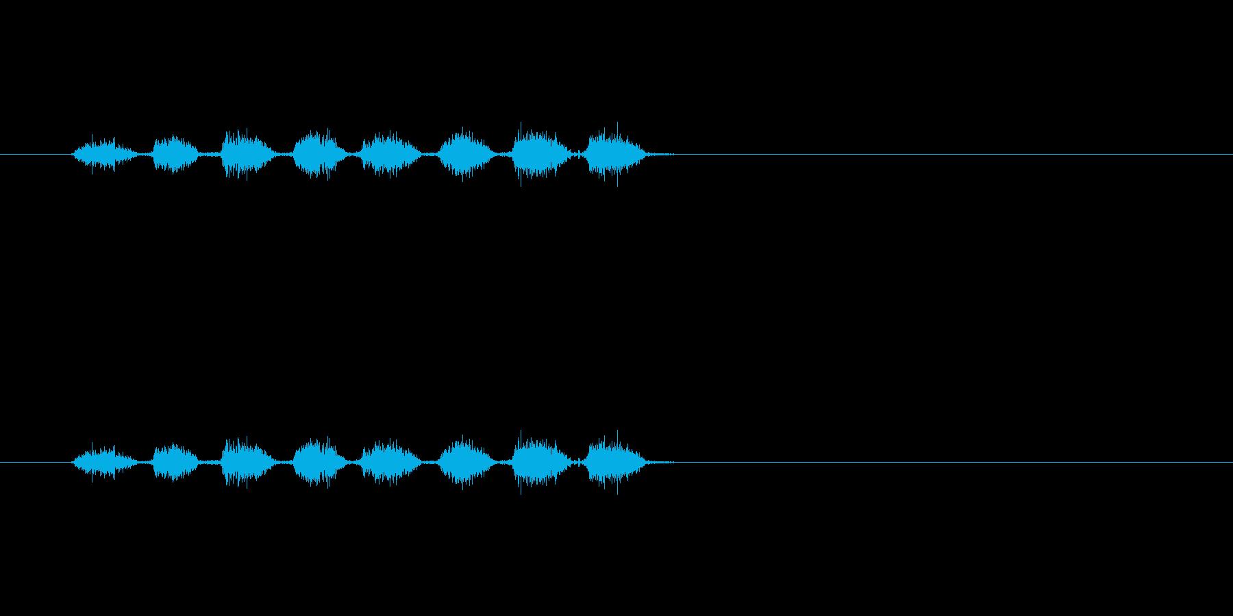 【消しゴム01-5(こする)】の再生済みの波形