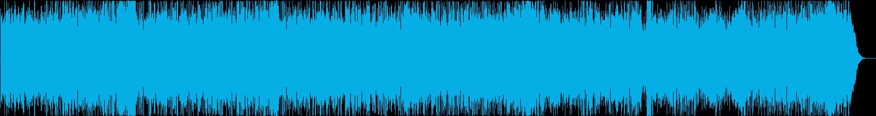 ラテン調のジャズワルツBGMの再生済みの波形