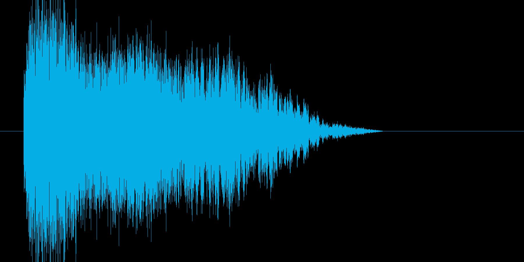 氷結魔法_光りインパクトの再生済みの波形