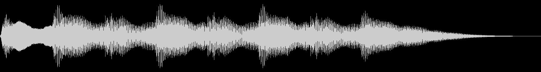 レトロなクイズ正解音 ピンポン4回 合格の未再生の波形