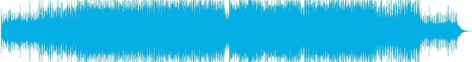 ストーリー性豊かなトロピカルハウス曲の再生済みの波形