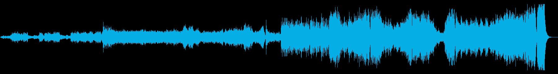 テーマソング系、壮大な映画の始まりの再生済みの波形