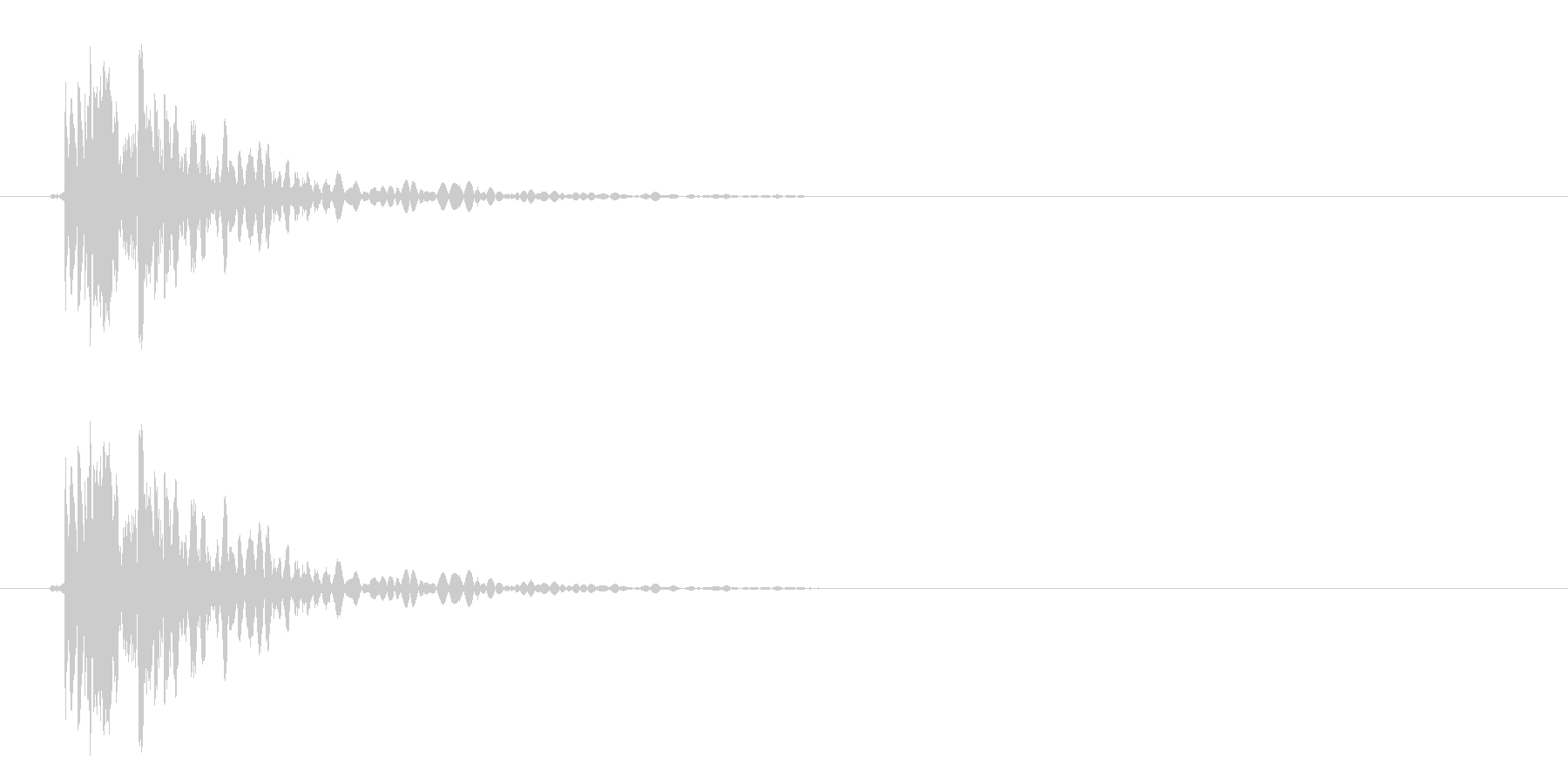 ハードインパクトとウッドスプリンタ...の未再生の波形