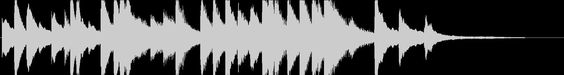 ジングル - しっとりピアノソロの未再生の波形