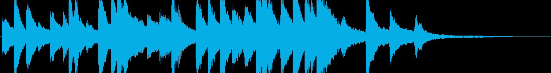 ジングル - しっとりピアノソロの再生済みの波形