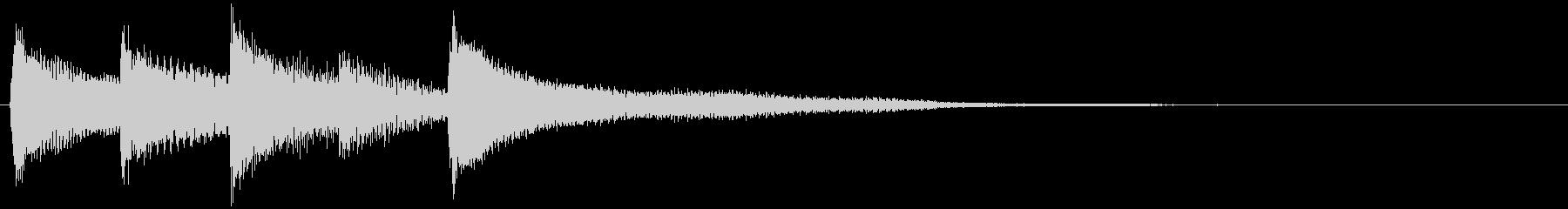 ピアノ転回音12・サウンドロゴの未再生の波形