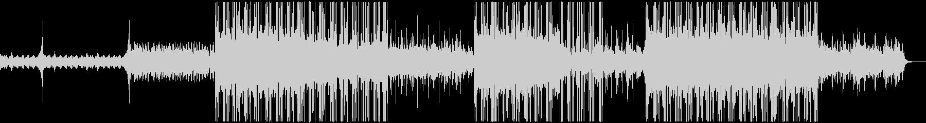 オルタナティブ・ロックテイストのBGMの未再生の波形