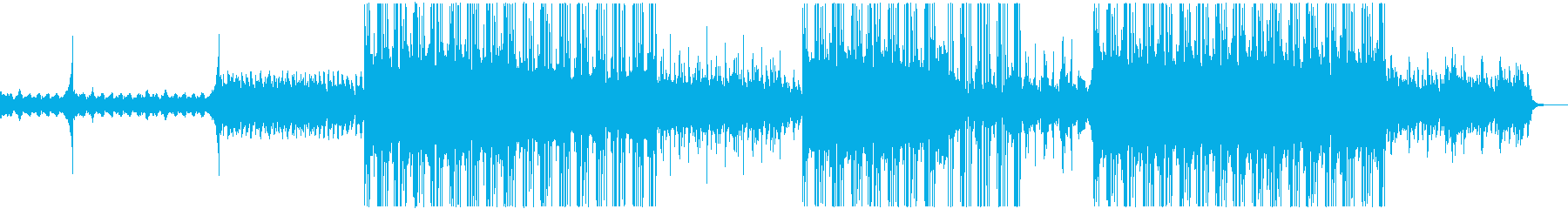 オルタナティブ・ロックテイストのBGMの再生済みの波形