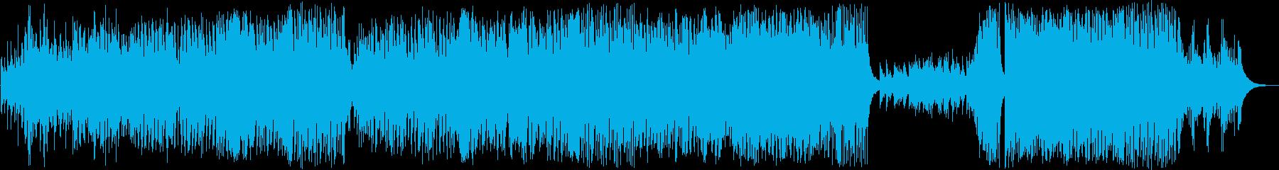 軽快なさわやかソロギターの再生済みの波形