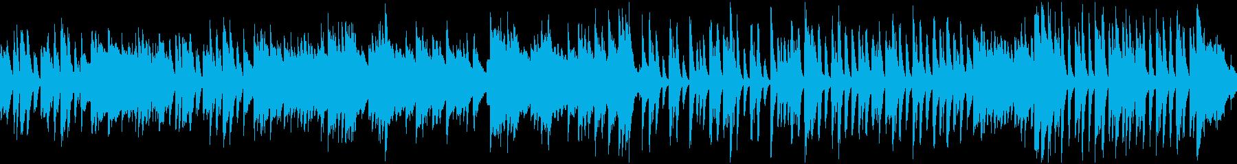 おしゃれなピアノワルツ(ループ)の再生済みの波形