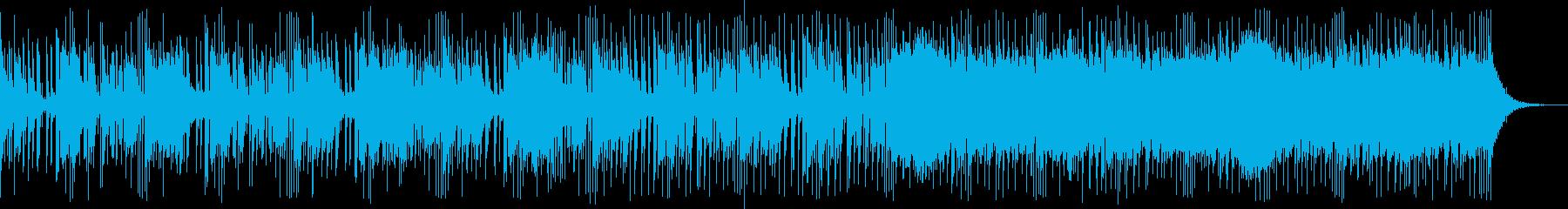 恐怖感・中東風の曲の再生済みの波形