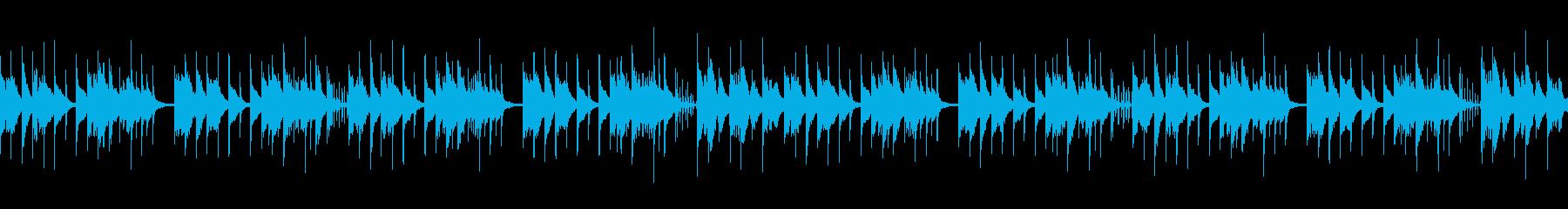 【ループ仕様】不思議な雰囲気のBGMの再生済みの波形