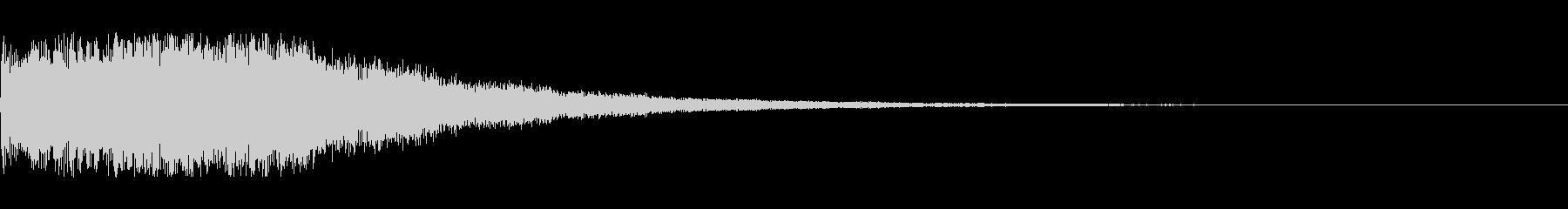 シンセサイザー シーン切り替え音の未再生の波形