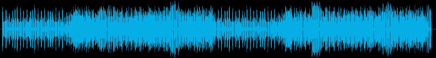 8bit風ロックBGMの再生済みの波形