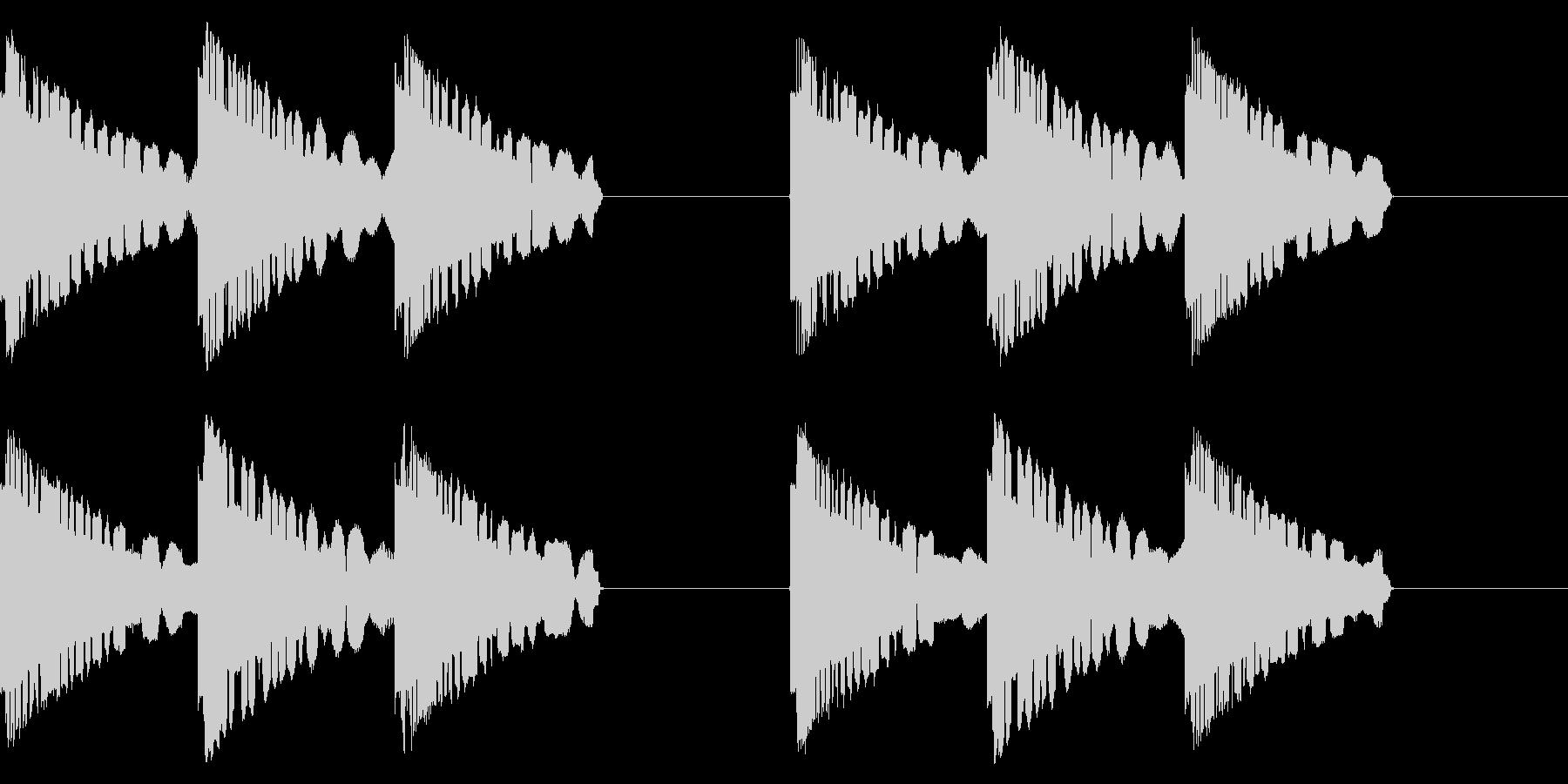 サイレン音の未再生の波形