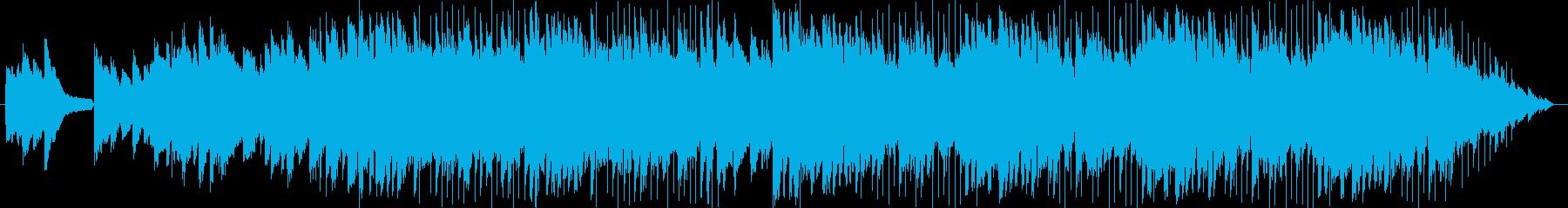 切ないエレキとピアノの再生済みの波形