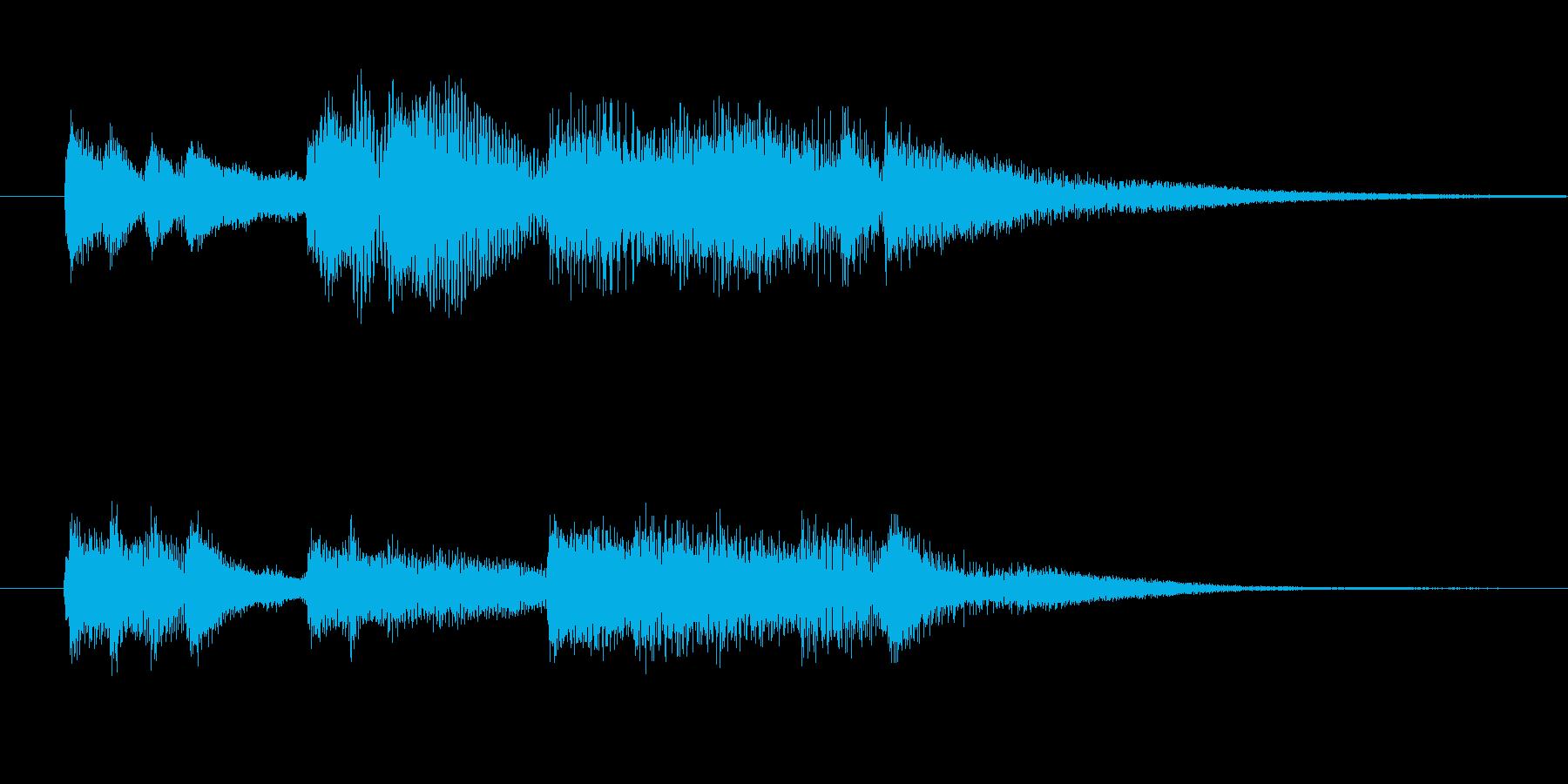おしゃれなピアノジングルです。の再生済みの波形