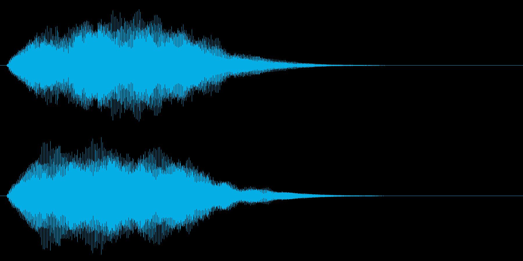 クラブ系 タッチ音4(複)の再生済みの波形